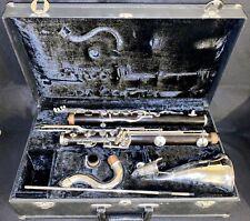 VINTAGE   Noblet Paris France Wood Bass Clarinet  needs Clean