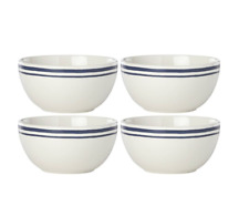 "Kate Spade All In Good Taste Order's Up Diner 5"" Bowls Striped Set of 4 by Lenox"