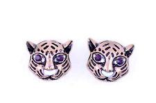 Stile vintage bronzo leopardate orecchini a perno motociclista gotico