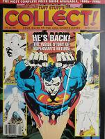 Tuff Stuff Collect 1993 Magazine - Superman Return Cover - No Label NM