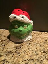 GRINCH Bank--Ceramic, Hand-Painted early 2000s