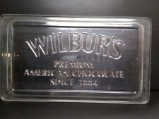 "WILBUR'S PREMIUM AMERICAN CHOCOLATE MOLD HARD PLASTIC 19""×11"""