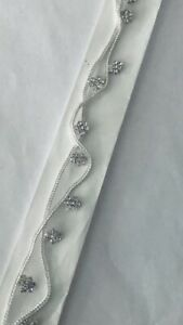 New Bollywood Costume Jewellery Anklets / Payal Silver Plating White Stone's