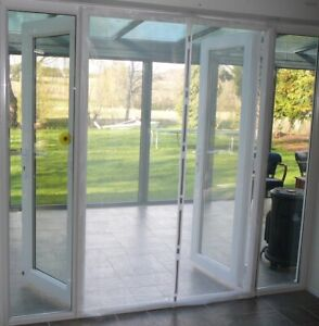 Magnetic Flyscreen Door Adjustable up to 200cm wide with Side Magnets