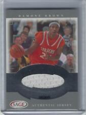 Damone Brown Su Syracuse Orangemen Orange 2001 Sage College Jersey Card #32/200