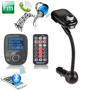Best LCD Car Kit MP3 Bluetooth Player FM Transmitter Modulator SD MMC USB Remote