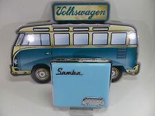 "fin POLYFLAME Étui à Cigarettes - ""VW SAMBA"" - bleu clair - & - 606524/A"