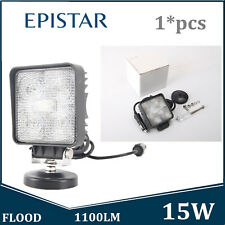 1X 15W LED Work Light FLOOD 12V 24V fits Jeep Truck Hummer With Magnetic Base