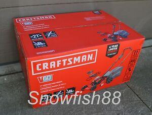 "*Bare Tool* Craftsman V60 60V 21"" Cordless Electric Push Lawn Mower - No Battery"