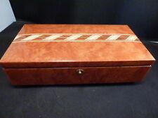 San Francisco Music Box Company Italy Sanyo  Wood Marquetry Music Box w/botton