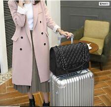 Women Travel Handbag Black Quilted Luxury Faux Leather Large Bag Shoulder Bags