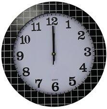 35cm Groß Rund Wanduhr mit Quarz Uhrwerk Schwarz & Weiß & Criss Cross