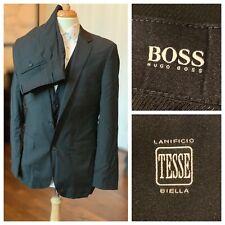 HUGO BOSS TESSE 3 Piece suit James4/Sharp6 Charcoal 40L 34x33
