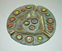 "Mid Century Vintage Higgins Studio Fused Dish Art Glass 9"" Plate Ex.Cond."