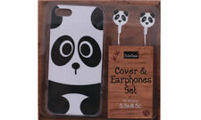 Iphone 5 Cover and Earphone Set 5s Cute Animals case **** DISCOUNT