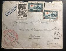 1942 Oujda Morocco French Troops Airmail Cover To Bizerte Tunisia