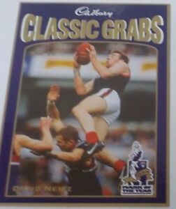 1998 Cadbury Classic grabs card #17 David Neitz - Melbourne Demons