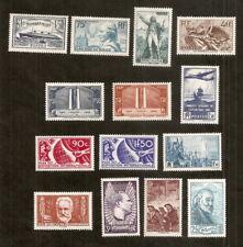 Lot de Semi-modernes période 1935-38,neufs,trace de charnière,très frais,c 180€