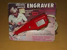 VINTAGE RED  ELECTRIC PENCIL ENGRAVER MODEL 21C NOS UNUSED NEW OLD STOCK