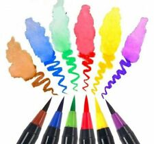 20 Colors Soft Calligraphy Brush Set Water Coloring Books Art Marker Writing Pen