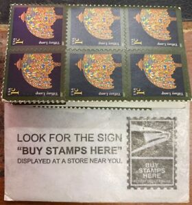 US 1¢ Tiffany Lamp 2007 Coil Stamp Strip of 30