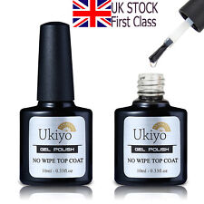 Ukiyo 10ml No Wipe Top Coat for UV Gel Polish Gelpolish UK STOCK