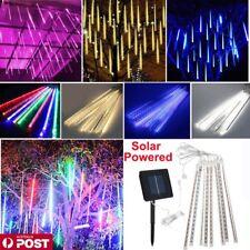 Solar Powered LED Meteor Shower Fairy String Lights Xmas Party Garden Tree Lamp