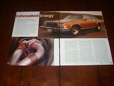 1979 BUICK TURBO LESABRE SPORT COUPE V6 231    ORIGINAL 2004 ARTICLE