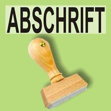 ABSCHRIFT - Holzstempel 10 x 35mm Büro Stempel