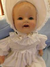 """antique composition mama doll compo limbs 26"""" t sleep eyes 1930s"""