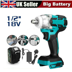 Cordless Impact Wrench Brushless Driver Torque Replace w/ Charger + Battery UK