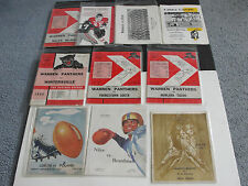 Vintage set of (10) mostly OHIO HIGH SCHOOL FOOTBALL PROGRAM'S-1950's to 1990's.