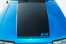 1985 1986 FORD MUSTANG GT HOOD BLACKOUT STRIPE DECAL W GT INSERT CUTOUT NEW NICE