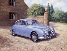 Jaguar Mk.II MkII 2 Classic British Car Birthday Card
