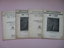 Four Volumes of ENCYCLOPEDIE PHOTOGRAPHIQUE DE L'ART - 1936, 1937 & 1938