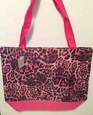 Pink Leopard Print Larger Tote Bag Shopping Travel Bag  NWT