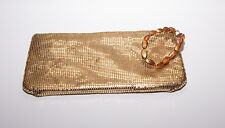 Guess Gold Mesh Wristlet with Bead strap