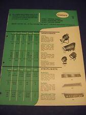 Century Lighting Inc 1950's Catalog Asbestos Spotlight Leads