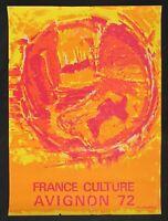Affiche FRANCE CULTURE FESTIVAL AVIGNON 1972 - MORVAN ? - 392