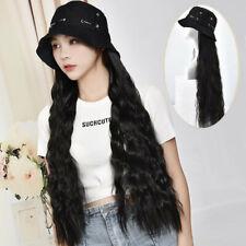 Tapa de cubo de moda 2019 con pelucas de Cabello Pelo Rizado Largo syntheitc Sombrero para Mujeres