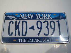 REF 602 Cartel Placa Metal 15X30CM 150gr Matricula Usa Plate New York NY