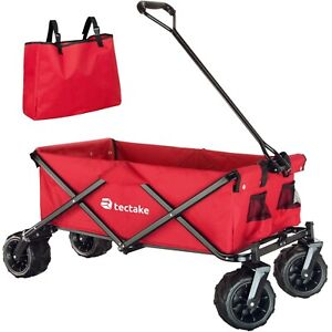 Foldable Pull Along Wagon Garden Trailer Hand Cart Wheelbarrow Transport Red new