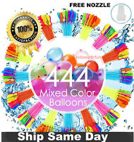 444 Water Balloons Instant Fill Self Sealing Water Balloons +FREE NOZZLE!