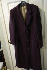 Beautiful LONDON FOG Aubergine Wool Coat ~ Size 6R