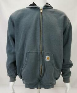 Carhartt Men's Zip Up Hoodie Jacket Gray Size Medium