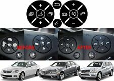 Replacement Steering Wheel Button Stickers For Mercedes C Class E Class G Class