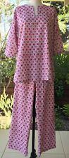 Anokhi Pink Buti Kurta Style Pajamas, 100% Cotton