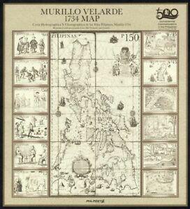 Philippines - 2021 Murillo Velarde Map, Miniature Sheet/13, MNH, OG, F-VF