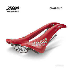 NEW 2021 Selle SMP COMPOSIT Saddle SMP4BIKE Pro Mens : RED - Made in Italy