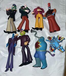 The Beatles Yellow Submarine Mixed Vinyl Figure Lot of 8! McFarlane Toys (2000)